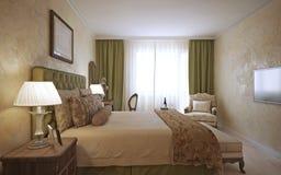 Master bedroom english design Stock Photography