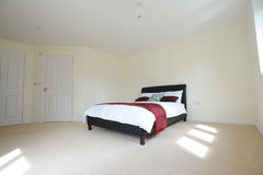 Master bedroom with ensuite Royalty Free Stock Images