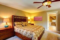 Master bedroom interior Royalty Free Stock Image