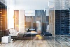 Luxury Bedroom With Hardwood Flooring Stock Image Image