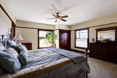 Master bedroom with iron frame bed Royalty Free Stock Photos