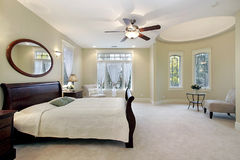 Master bedroom in luxury home Royalty Free Stock Photography