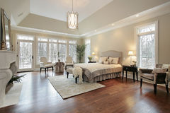 Master bedroom in new construction home Royalty Free Stock Images