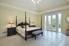 Master bedroom in new construction home Stock Images