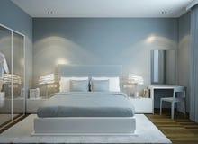 Master bedroom scandinavian style Royalty Free Stock Photo