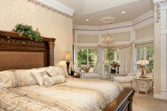 Master  Bedroom Sitting Area Royalty Free Stock Image