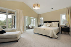 Master bedroom with sitting room Stock Images