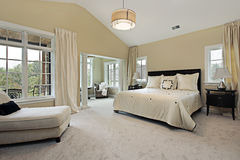 Master bedroom with sitting room Stock Photo