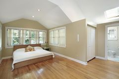 Master bedroom with skylight Royalty Free Stock Image