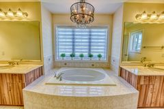 Master bedroom washroom royalty free stock photography