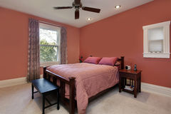 Free Master Bedroom With Peach Colored Walls Royalty Free Stock Photos - 20848788