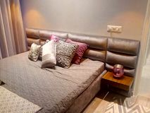 bedroom pillows mattress bed royalty free stock photos