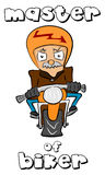 Master of biker Royalty Free Stock Photos
