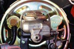 Master Brake Cylinder. This is a photo of a master brake cylinder Royalty Free Stock Photos