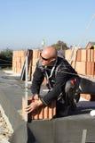 Master bricklayer Royalty Free Stock Image