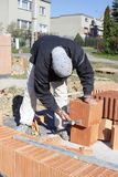 Master bricklayer Stock Photography