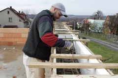 Master bricklayer Stock Photos