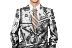 Master of business dressed in dollar suit Stock Photography