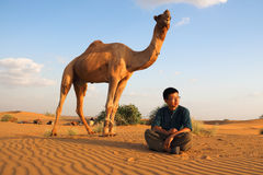 The master of the camel Stock Photos
