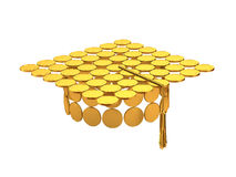 Master cap from coins. Royalty Free Stock Images