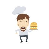 Master chef cartoon Stock Images