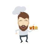 Master chef cartoon Stock Photography