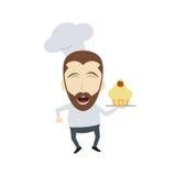 Master chef cartoon Stock Photo