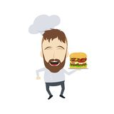 Master chef cartoon Royalty Free Stock Image