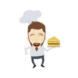 Master chef cartoon Royalty Free Stock Images