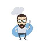 Master chef cartoon Royalty Free Stock Photo