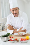 Master chef preparing meal Stock Image