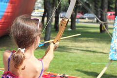 Master class of archery Stock Photography