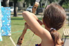 Master class of archery Royalty Free Stock Photo