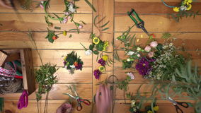 Master class of making flower ring. stock video footage