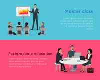 Master Class and Postgraduate Education Banners. Stock Photography