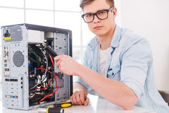 Master of computers. Stock Photos