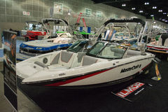 Master Craft II boat on display at the Los Angeles Boat Show on Stock Images
