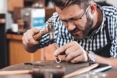 Master crafter at work Stock Photos