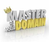 Master della vostra corona di dominio su re Leader CEO di parola Immagine Stock