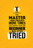 The Master Has Failed More Times Than The Beginner Has Even Tried. Inspiring Creative Motivation Quote. Stock Photos