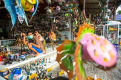 Master in his art-workshop. Ubud is one of Bali's major arts and culture centers Royalty Free Stock Photography