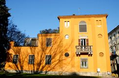 Master home completely yellow in Lodi in Lombardy (Italy) Royalty Free Stock Photos