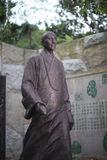 Master hongyi bronze statue in nanputuo temple Stock Image