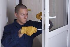 Repair door lock royalty free stock photos
