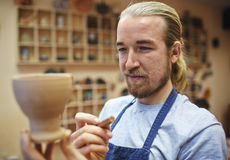 Master with jug Stock Photography