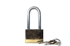 Master key and key ring. Key master lock concepts close up stock photo