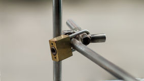 Master key is lock the steel Stock Photography