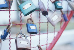 Master key of love. In pastel tone,blurred Stock Photography