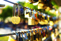 Master key of love symbol. The master key that represent the couple to show love and harmony each other. They are often come to the bridge to lock the master key Stock Photography
