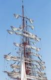 Master med deflaterat seglar Fotografering för Bildbyråer